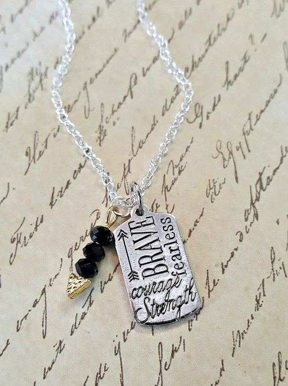dog tag with quotes inspirational dog tag by missgawdysjewelry