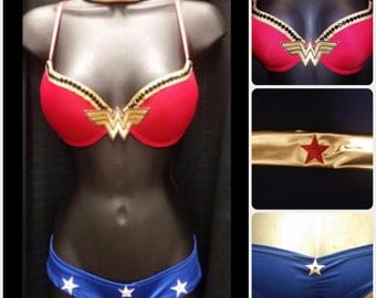 Wonder Woman Bra Top & Shorts Costume!