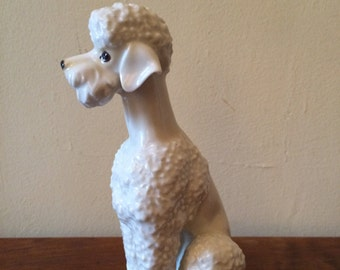 White porcelain standard poodle figurine Germany