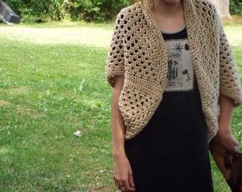 Crocheted Cocoon Shrug