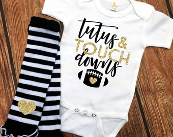 Tutus and Touchdowns - Football Outfit - Little Football Babe - Baby Girls' Clothing - Baby Bodysuit - Football Fan - Trendy Baby Girl
