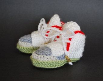 Kanye West Pure Platinum Nike Air Yeezy 2 Crocheted Baby Booties Yeezus Yeezy 2 Baby Shoes The Life of Pablo