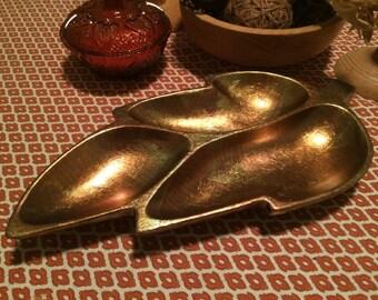 Bronze Leaf Dish