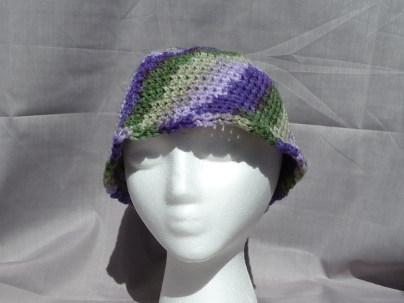 Free Crochet Pattern Multi Colored Hat : crocheted multi-colored bucket hat for adults by juliasstyles