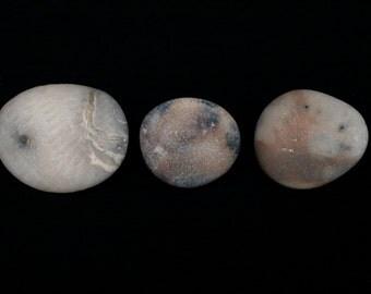 Set of Beach Stone Pins - Sea Pebble Brooches - Mix and Match - Wabi-Sabi