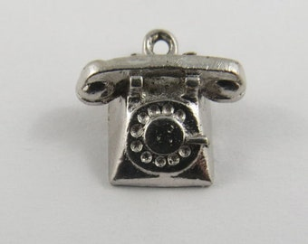 A Rotary Telephone Sterling Silver Charm or Pendant.