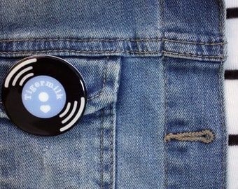 Vinyl Record Belle&Sebastian Brooch Shrink Plastic