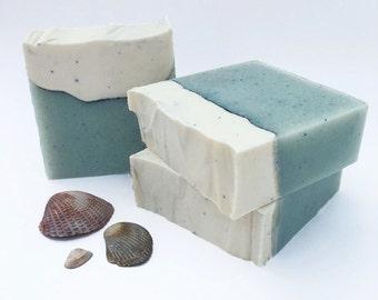 Handmade Soap, Beach Soap, Seaside Escape Soap, Gift For Her, Cold Process Soap, Bar Soap, Vegan Soap, Ocean, Summer Soap