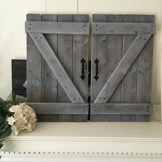 Farmhouse Sliding Door Wall: BARN DOOR DECOR Set Of 2 Large Rustic Barn By ElevenOwlsStudio