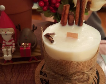SOY-apple cinnamon scent soy candle MINI