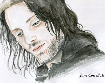 SALE - ORIGINAL - Aragorn son of Arathorn - Lord of the Rings - watercolour painting