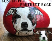 DEPOSIT for custom pet portrait / animal painted rock gift *DEPOSIT ONLY*
