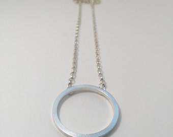 Statement Silver Circle Necklace