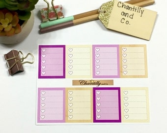 Floral Valley Check Box Stickers