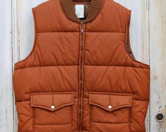 Chestnut big pocket Puffer vest