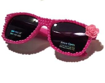 Kids Custom Sunglasses w/ Pearls