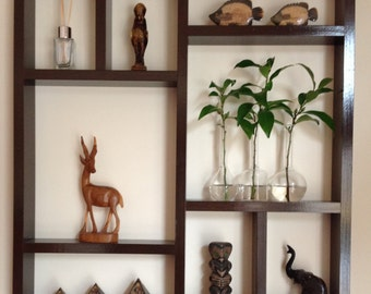 Shadow box display shelf- timber stained