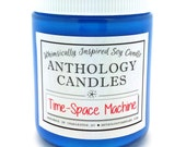 Time-Space Machine - Whimsically Inspired Soy Candle, Book Candle, Scented Soy Candle, 8oz Jar