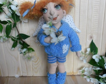 Rag Doll, Angel Doll, textile Doll, Handmade doll,Gift to a woman