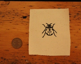 Tiny Ladybird Linocut Patch