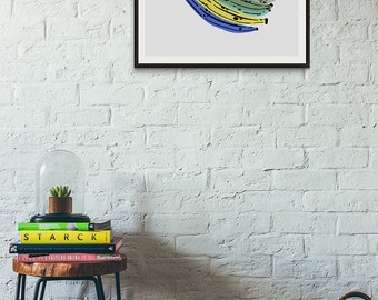 Bananas! Giclée Archival Print by Melanie Lambrick Illustration