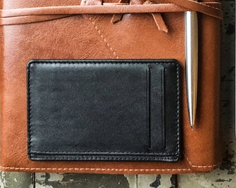 leather card holder / credit card case / multiple card case / RFID blocking / slim wallet / minimalist / real leather / oyster holder