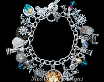 Alice Through The Looking Glass Themed Charm Bracelet, Alice In Wonderland