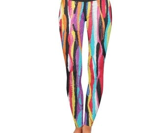 Cool Urban Print Made To Order Custom All Size Leggings by Legs247.com