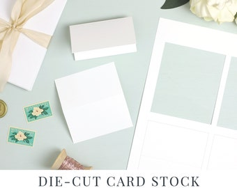 Everly Place Card Paper, Die Cut Card Stock, Perforated Die Cut for Wedding Escort Cards No Trim | Place Card Shape No. 7 | 5 sheets