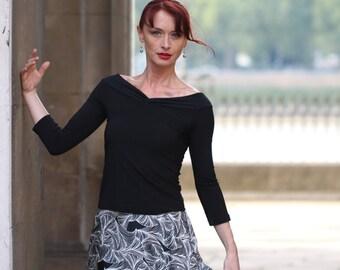 Dance- Tango tops 'Paloma' 3/4 sleeves