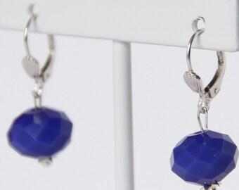 Faceted earrings