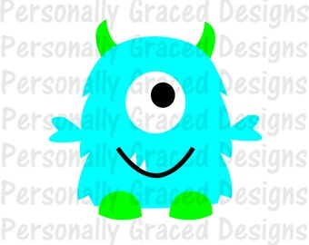 SVG, DXF, EPS Cut file Silly Monster svg, silhouette cut file, cameo file, Monster Design, One Eyed Monster, Cute Monster, Monster Download