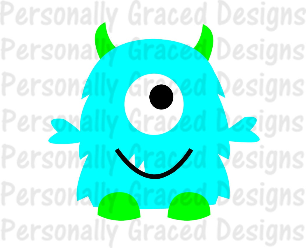 SVG DXF EPS Cut File Silly Monster Svg Silhouette File Cameo Design One