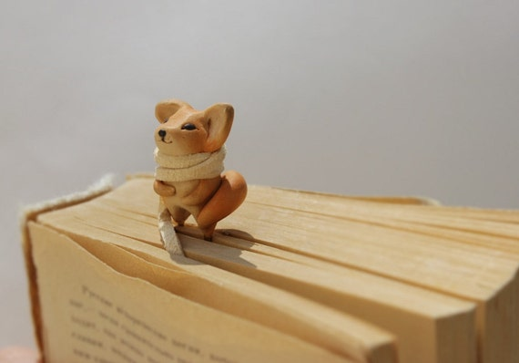 Fox bookmark red fox book mark cute best gift for girl animal miniature charm book marks  clips best gift for kids woodland