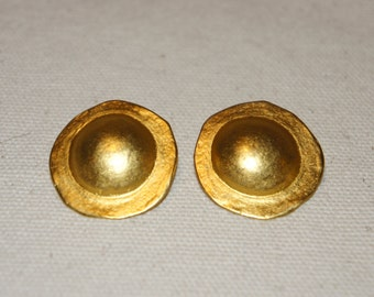 Ralph Lauren Purple Label Gold Vermeil Post Earrings, Preppy Pierced Earrings