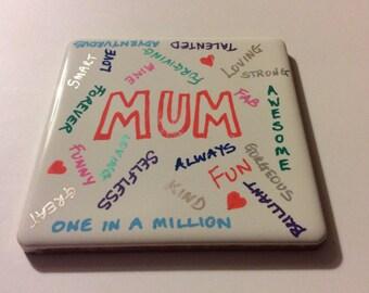 Coffee coaster - Mum