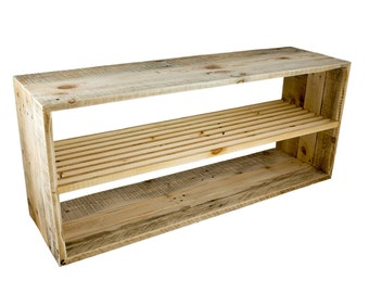 decorative recycled pallet wood shoe rack