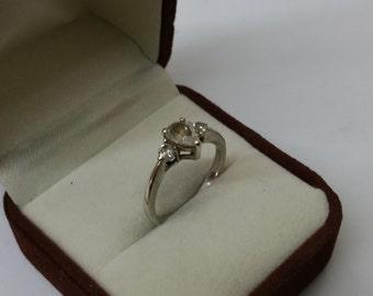 Ring Silver 925 Crystal stones vintage SR640
