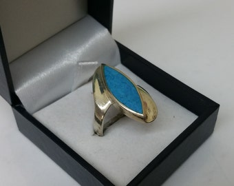 Ring Silver 925 with turquoise great design SR704