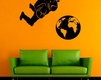 Spaceman Vinyl Sticker Astronaut Wall Decal Nursery Vinyl Decals Wall Vinyl Decor /6iwg/