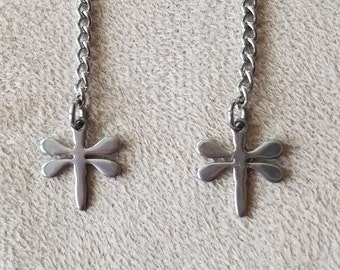 "Dragonfly Stainless Steel ""Earring+"" Charms"