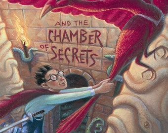 Harry Potter and the Chamber of Secrets book cover FRIDGE MAGNET