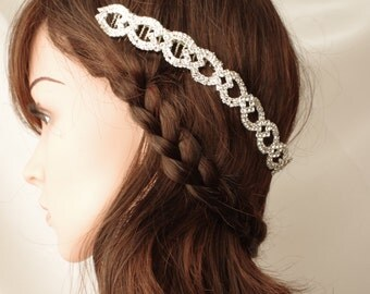Rhinestone Headband  Hair Tiara Wedding Tiara Bridal Headband Wedding Headpiece Hair Tiara Flower Girl  Bridesmaid Comb Hair Accessory Tiara