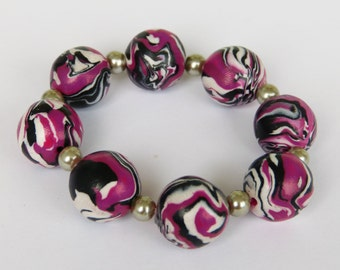Elegant bracelet made from polymer CLAY