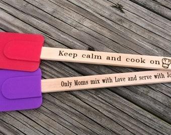 Engraved silicone spatula, engraved kitchen spatula