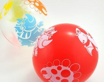6 Dinosaur Balloons