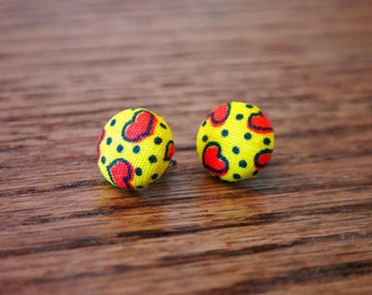 Vintage Fabric Post Earrings