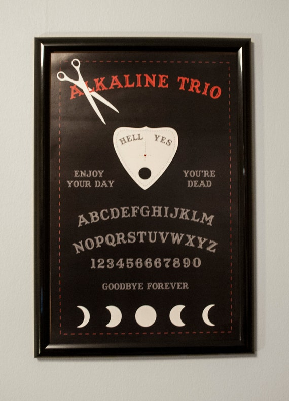Alkaline Trio Black Ouija Board 11x17 Poster