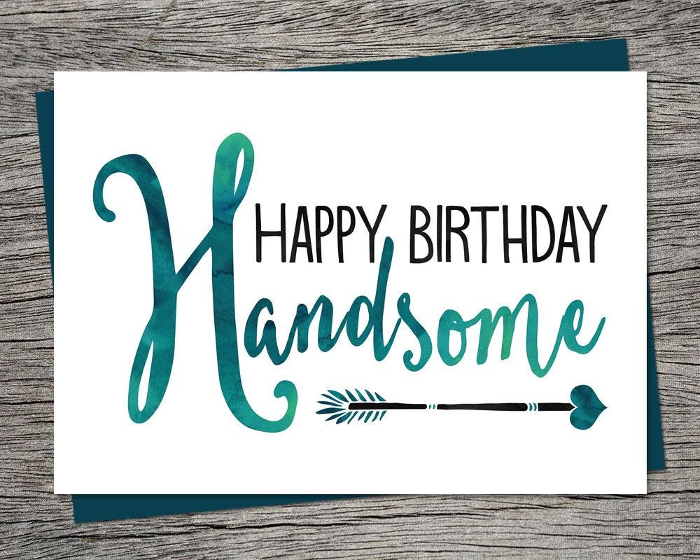 handsome card  etsy, Birthday card