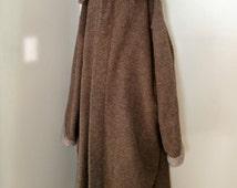 Men's Capote Coat | XXL 52-56 | Hooded Blanket | European Wool | MADE in USA |